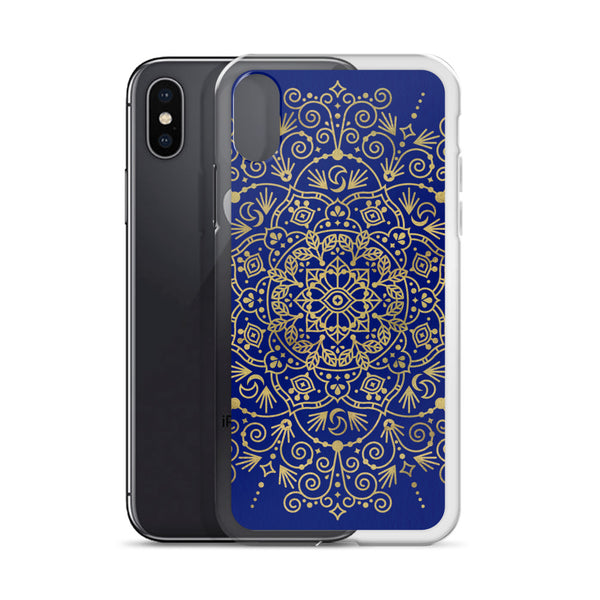 Moroccan Mandala – Gold on Navy • iPhone Case