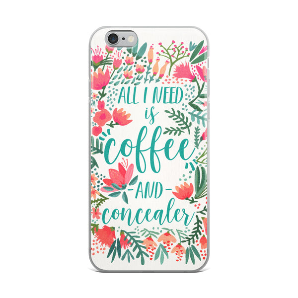 Coffee & Concealer – Juicy Palette • iPhone Case