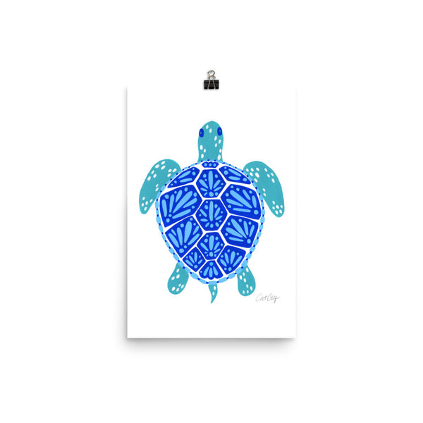 Sea Turtle – Blue Palette  •  Art Print