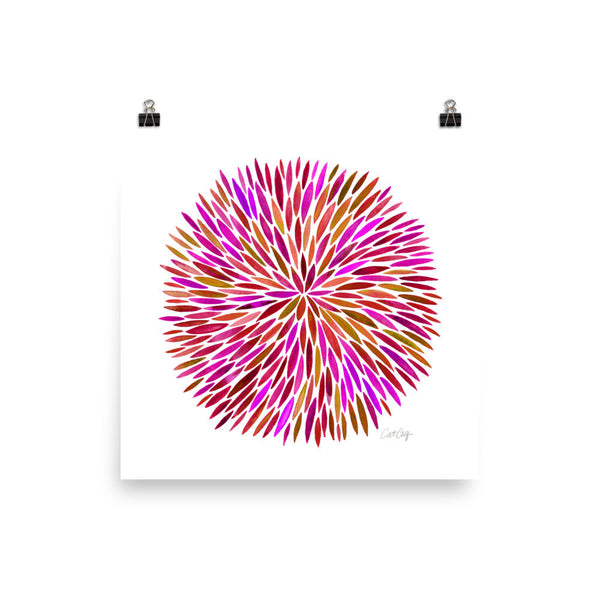 Watercolor Burst – Pink Palette • Art Print