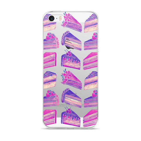 Cake Slices – Unicorn Palette • iPhone 5/5s/Se, 6/6s, 6/6s Plus Case (Transparent)