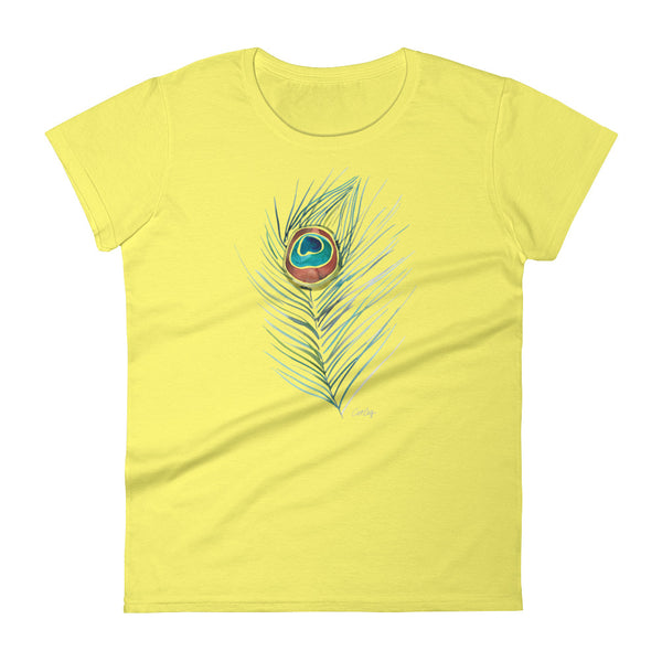 Peacock Feather • Women's short sleeve t-shirt