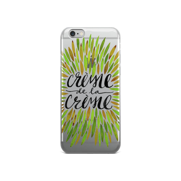 Crème de la Crème – Green Palette  •  iPhone 5/5s/Se, 6/6s, 6/6s Plus Case (Transparent)