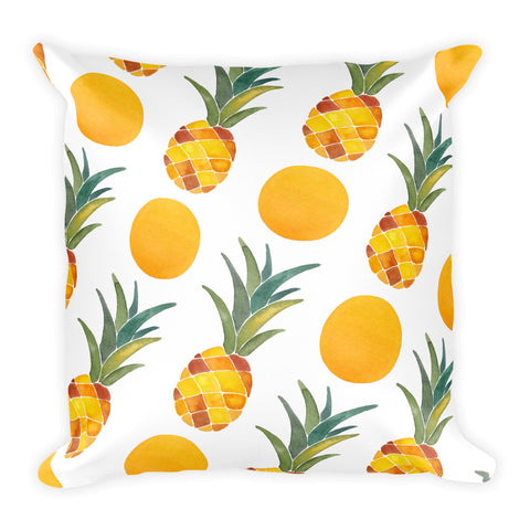 Pineapple Dot Pattern • Square Pillow