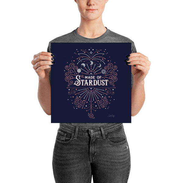 Made of Stardust – Blush & Navy Palette • Art Print