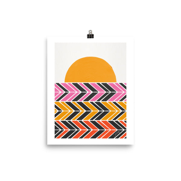 Retro Sunset - Black Warm