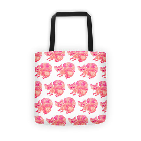 Raccoon – Pink Palette  •  Tote Bag