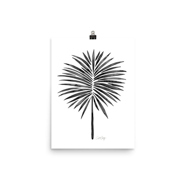 Fan Palm – Black Palette • Art Print