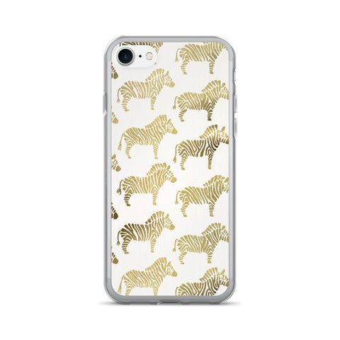 Zebras – Gold Palette • iPhone 7/7 Plus Case