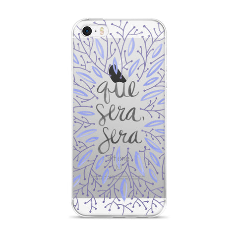 Whatever Will Be, Will Be – Illustrated Lavender • iPhone 5/5s/Se, 6/6s, 6/6s Plus Case (Transparent)