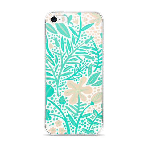 Garden – Mint Palette  •  iPhone 5/5s/Se, 6/6s, 6/6s Plus Case