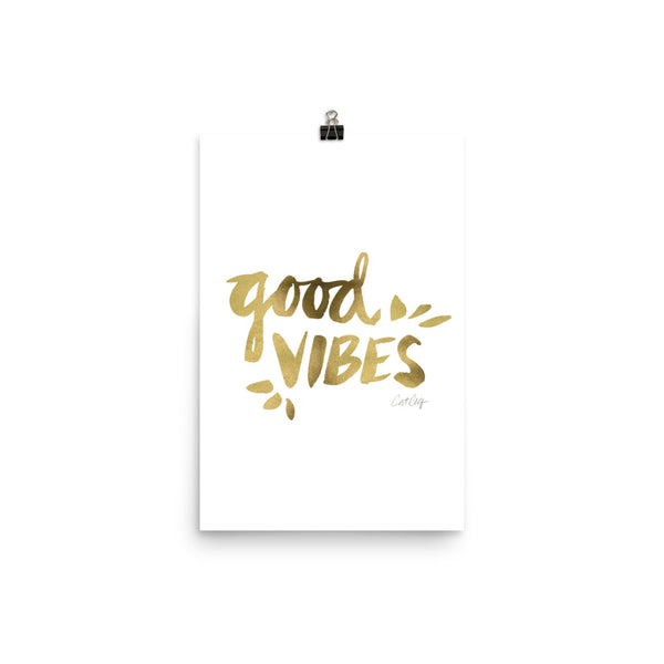 Good Vibes – Gold Palette • Art Print