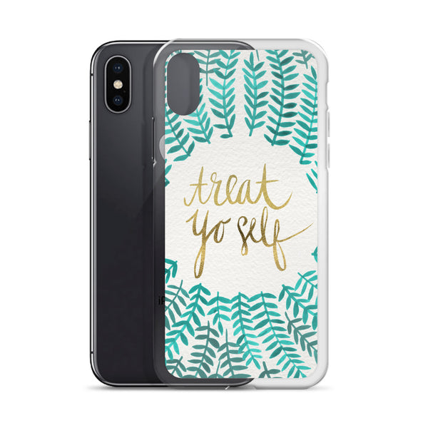 Treat Yo Self – Turquoise Palette • iPhone Case