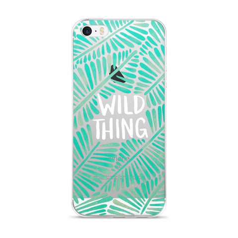 Wild Thing – Mint Palette  •  iPhone 5/5s/Se, 6/6s, 6/6s Plus Case (Transparent)