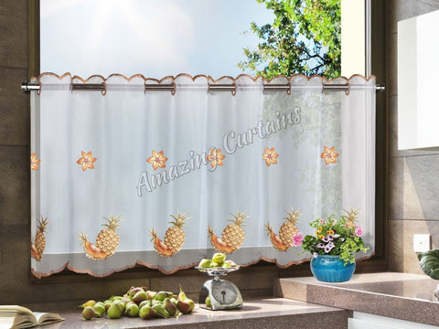 Kitchen Net Curtain Pineapples Pattern - AmazingCurtains