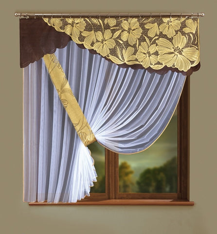Jardiniere Net Curtain with Pelmet - Amazing Curtains