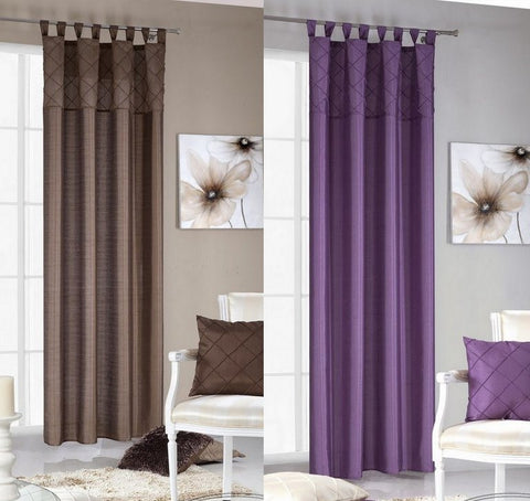 Plain Curtain Voile Panel Brown Purple 140x 250cm - Amazing Curtains