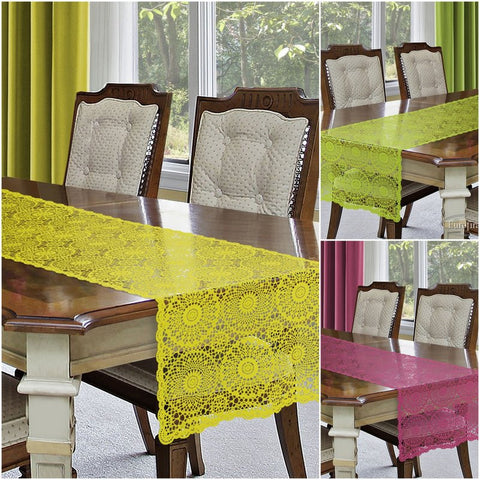 Wipe Clean PVC Table Runners - Amazing Curtains