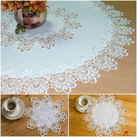 High Quality Round Tablecloth with Lace