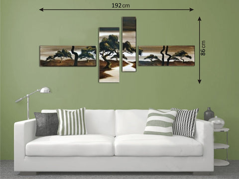 Canvas Multi Panels Landscape Brown - AmazingCurtains