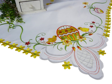 Square Easter Tablecloth - 85 x 85cm