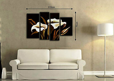 Framed Large Multi Split 4 Panel Set Canvas - Amazing Curtains