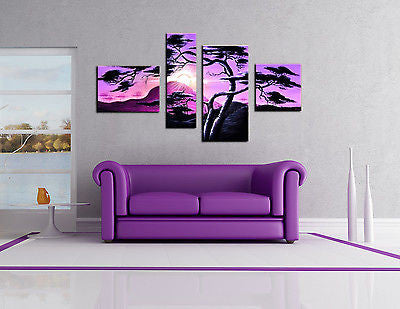 Purple Pictures Canvas Panels - AmazingCurtains