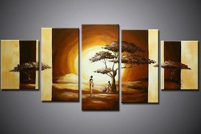Sunset in Africa Parted Canvas Multi Split Panels - Amazing Curtains