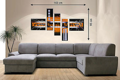 Orange 5pcs Picture Panels - Amazing Curtains