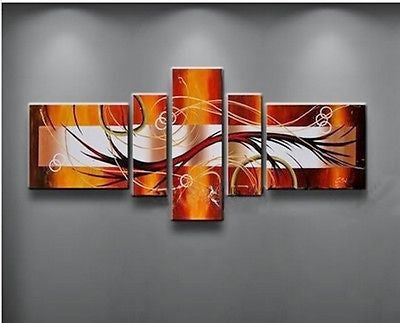 Framed Large Abstract Multi Split Canvas Panels - AmazingCurtains