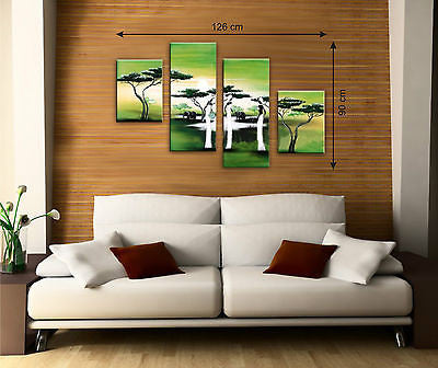 Green Canvas Multi Panel Pictures - AmazingCurtains