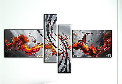Amazing Hand Painted Abstract Canvas Panels - Amazing Curtains