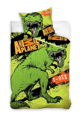 Animal Planet Bedding Set - T-Rex Dinosaur - Amazing Curtains