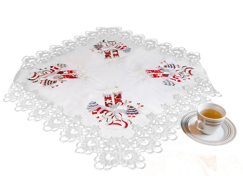 Amazing Square Christmas Tablecloth with Lace - Amazing Curtains