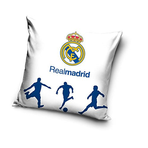 White Cushion Cover - Real Madrid