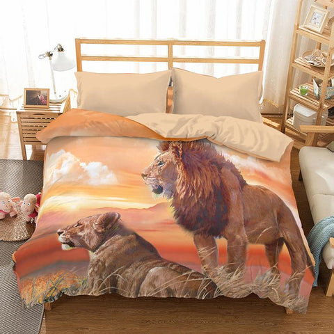 New Arrivals 3D Bedding Set with Lions