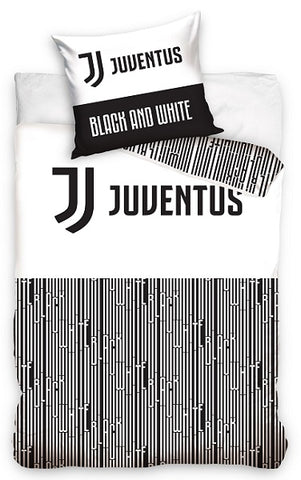 Juventus FC Duvet Cover 140 x 200cm Black White - Amazing Curtains