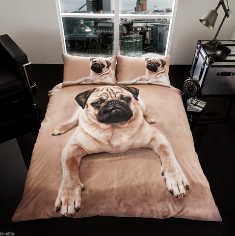 Pug Dog Duvet Cover & Pillowcases - AmazingCurtains