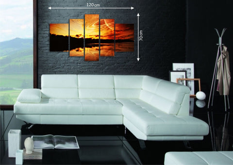 Large Sunset Canvas Picture Panels - Amazing Curtains