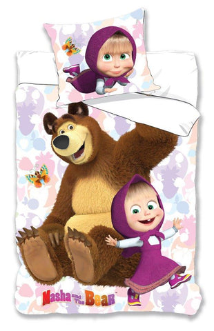 Masha And The Bear Bedding Set 140 x 200cm - Amazing Curtains