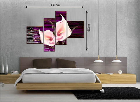 4pcs Picture Panels Purple/Pink - AmazingCurtains