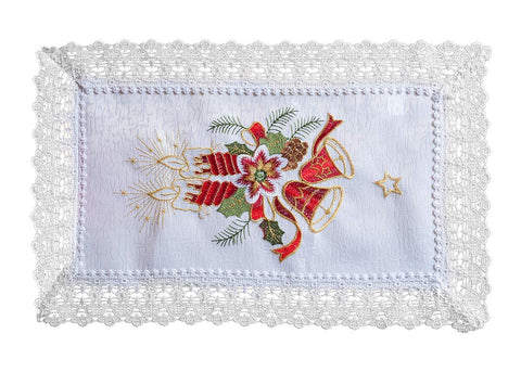 White Christmas Doilies Lace - 30 x 45cm - Amazing Curtains