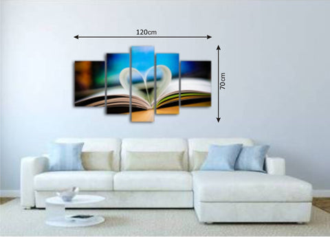 Canvas Picture Panels with Books Pattern - Amazing Curtains