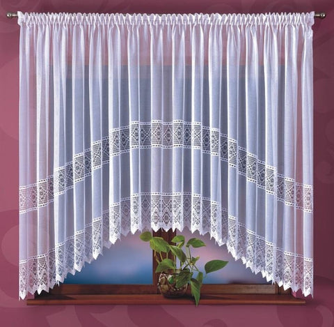 Amazing White Jardiniere Net Curtain 400 x 180cm - Amazing Curtains