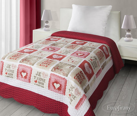 "Modern Bedspread ""LOVE"" - Amazing Curtains"