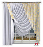 Amazing Voile Net Curtain Liryka/Cream - 300 x 170cm - Amazing Curtains