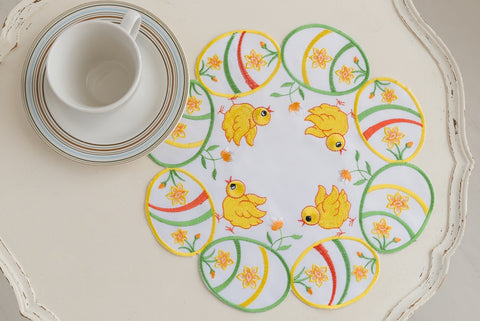 Easter Doily/Placemat - 30cm Chicks