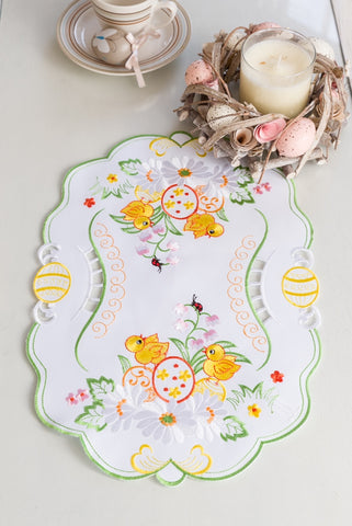 Small Easter Table Runner with Chicks - 30 x 45cm