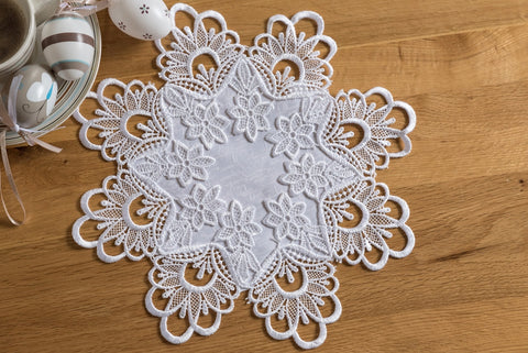 White Doilies with Lace - 2 sizes