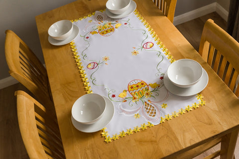 Easter Tablecloth with Eggs - 50 x 100cm